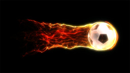 Flaming Football 1 stock footage