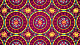 Indian Ornaments Background stock footage