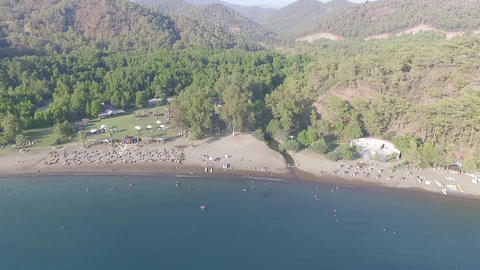 Gunluklu Beach Aerial View Footage