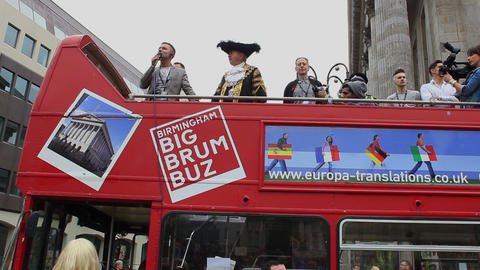 Organizers Of Birmingham Gay Pride With The Lord Mayor Of Birmingham stock footage