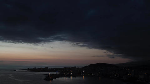 Time Lapse Harbor Of Los Cristianos stock footage