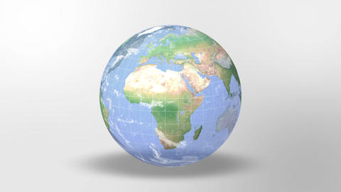 Earth Center Loop Map Whiteback stock footage