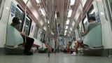 Passenger traffic in Singapore subway (MRT) Footage