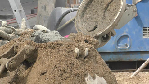 Working Load Concrete Mixer stock footage