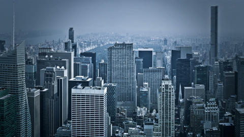 View Over Manhattan, New York stock footage