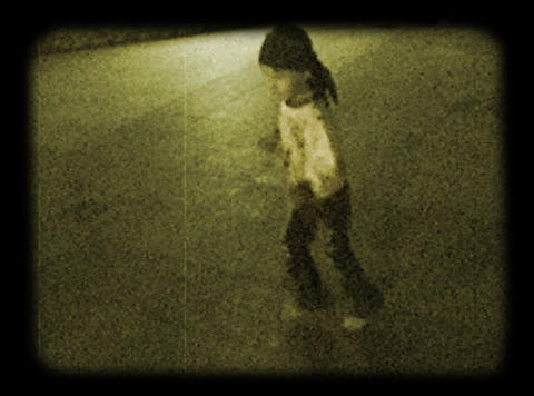 Child At The Evening Boulevard stock footage