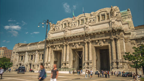 Central Station Milano stock footage