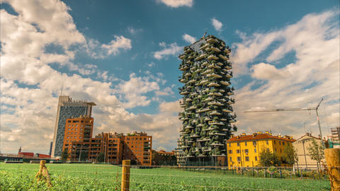 Milano Vertical Forest is a pair of residential towers in the district of Milan, Footage