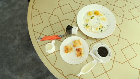 Breakfast On The Table stock footage