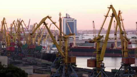 Sea Trading Port Activity stock footage