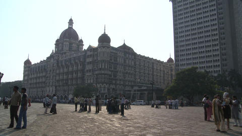 Taj Mahal Palace & Tower Hotel - Mumbai, India Footage