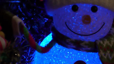 Christmas Snowman Background stock footage