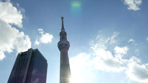Sky Tree Look Up 4 K X 2 04 stock footage