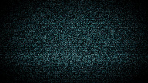 TV Noise Blue stock footage