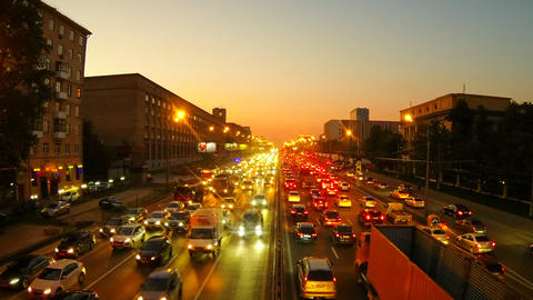 Urban Traffic In Moscow stock footage