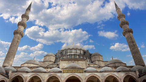 Sultanahmet Camii in Istanbul. Time Lapse Footage