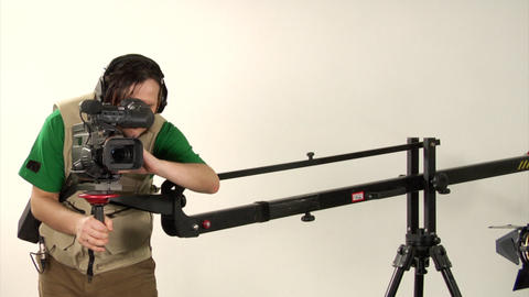 Studio Video Shooting stock footage
