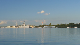 Pearl Harbor Wide Angle stock footage