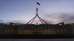 Parliament House Canberra time lapse Footage