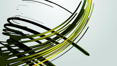 Yellow Green Strokes stock footage