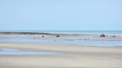 Normandy Beach Timelapse 01 HD stock footage