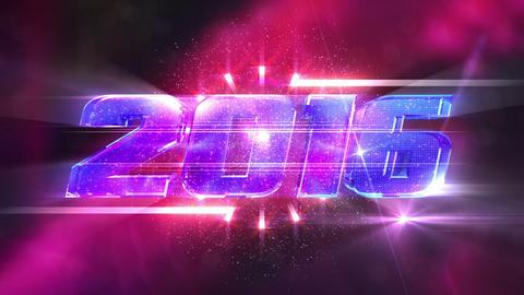 New Year 2016 Loopable Animation stock footage