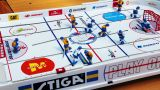 Table Hockey Amateur Tournament stock footage