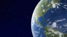 Earth Orbit Earth Watching Central America From Orbit stock footage