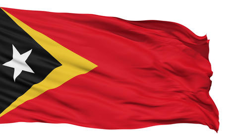 Waving National Flag Of East Timor stock footage