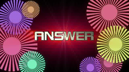 ANSWERの文字 stock footage