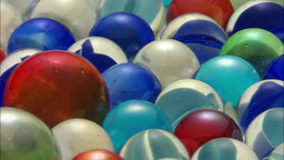 Colorful Marbles stock footage