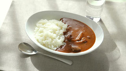 Curry And Rice stock footage