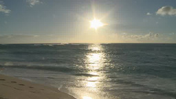Sun Shining Above Sea In Honolulu, Hawaii stock footage