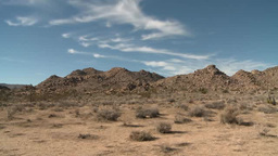 Clouds Drift Over Desert In Joshua Tree National Park stock footage