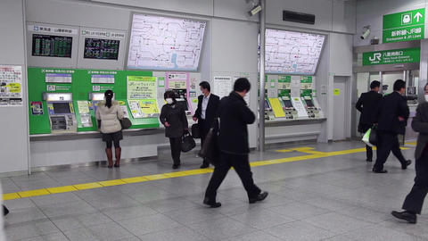 9of 23 Central Railway Station , Train , People Commuting , Tokyo , Japan , Asia stock footage