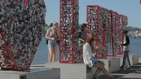 Portugal 2015 september love monument belem embenkment tejo a new tourist attrac Footage