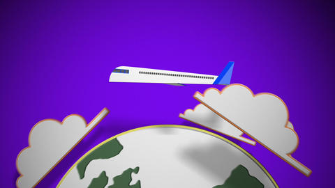Paper Plane Travel Animation
