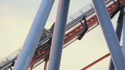 Roller Coaster In Shanghai Amusement Park stock footage