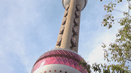 Shanghai Oriental Pearl TV Tower stock footage