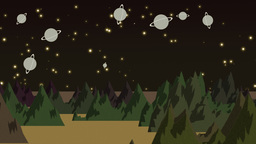 Cartoon Animation Of Planets stock footage