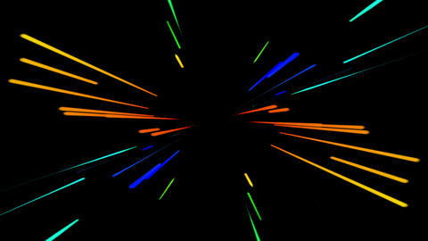 Colorful Graphic Neon Lines stock footage