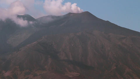 Etna Smoking stock footage