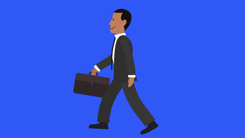 Businessman Walk Cycle 2 stock footage