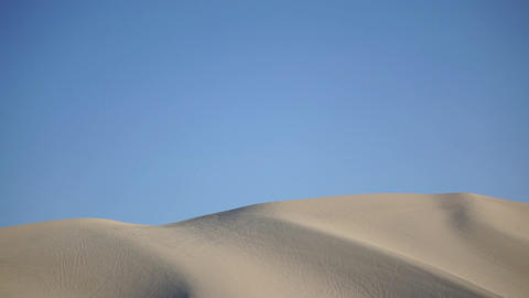 Sand Dune In The Desert stock footage