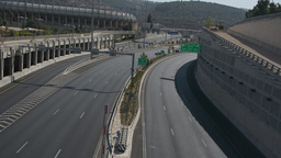 The Almost Empty Begin Road In Jerusalem On Yom Kippur stock footage
