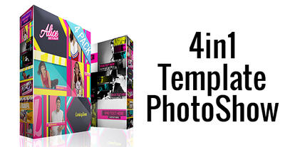 4in1 Template PhotoShow stock footage