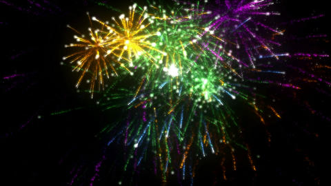 Fireworks. CGI. HD stock footage