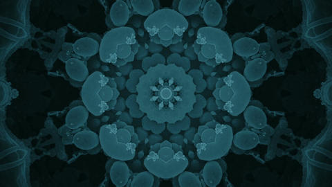 S 0058 Gentle Blue Fractal Keleidoscope Background from Virus Image Footage