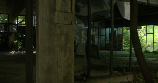 Inside Abandoned Building stock footage