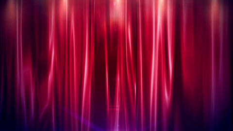 Curtain Open FullHD stock footage
